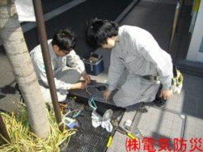 地下埋込照明器具改修